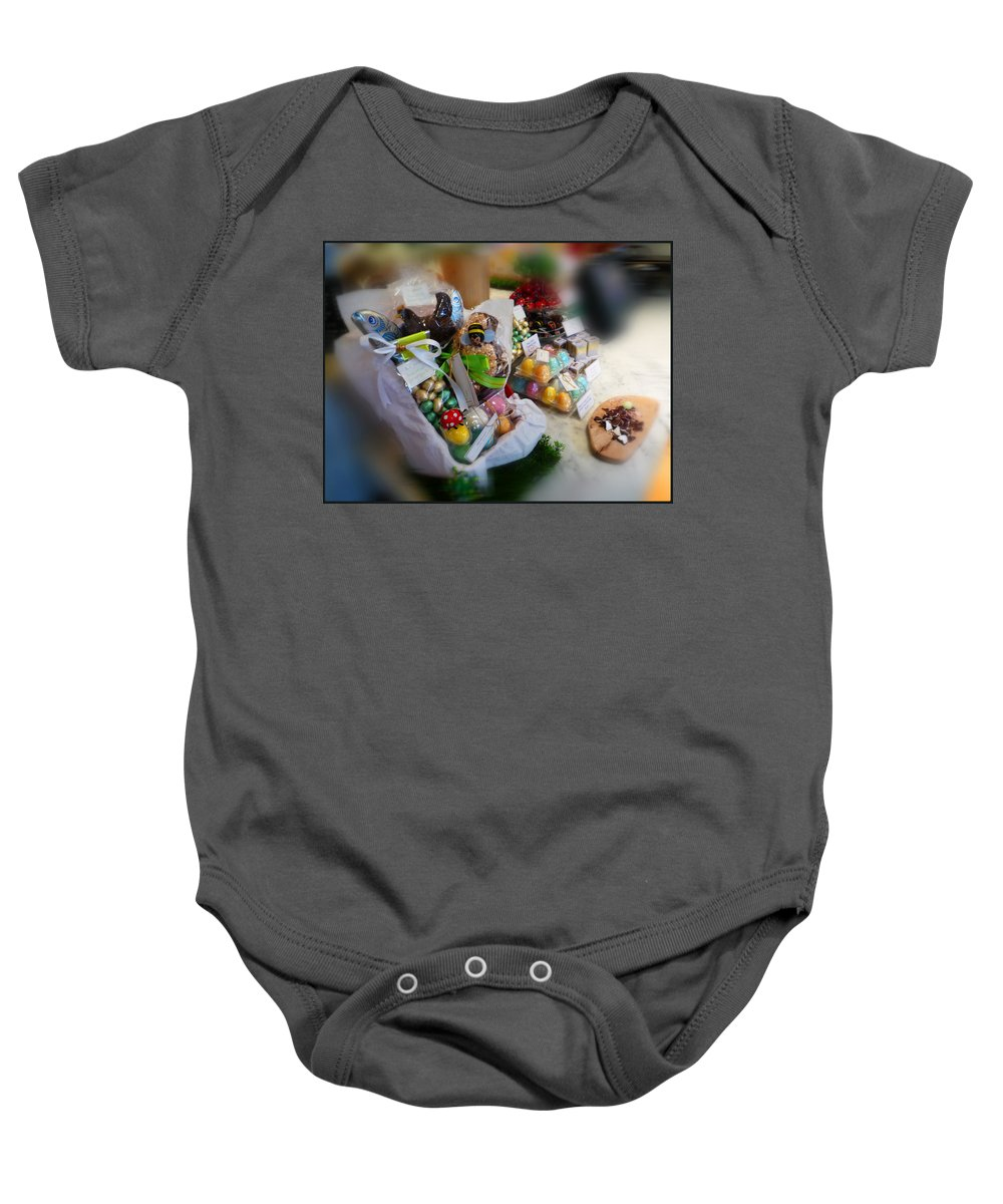 Easter Baby Onesie featuring the painting Easter Chocolate by Charles Stuart
