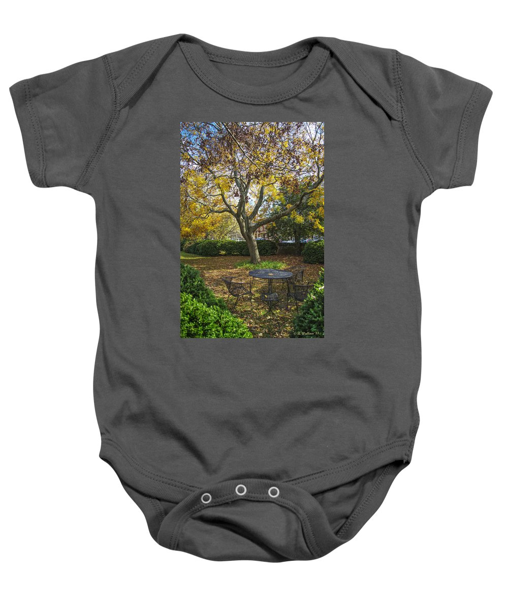 2d Baby Onesie featuring the photograph Easton Garden by Brian Wallace