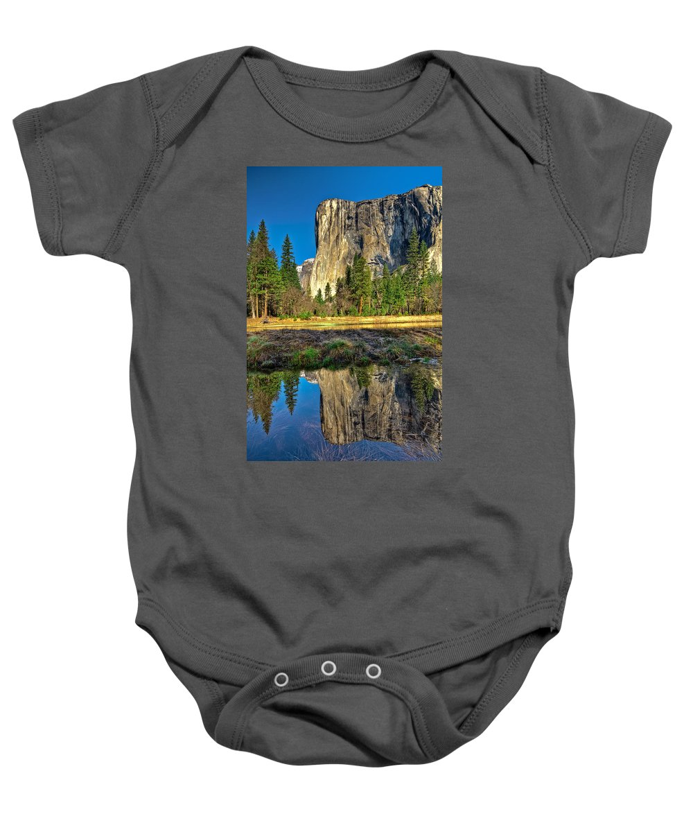 Yosemite National Park Baby Onesie featuring the photograph El Capitan by Maria Coulson