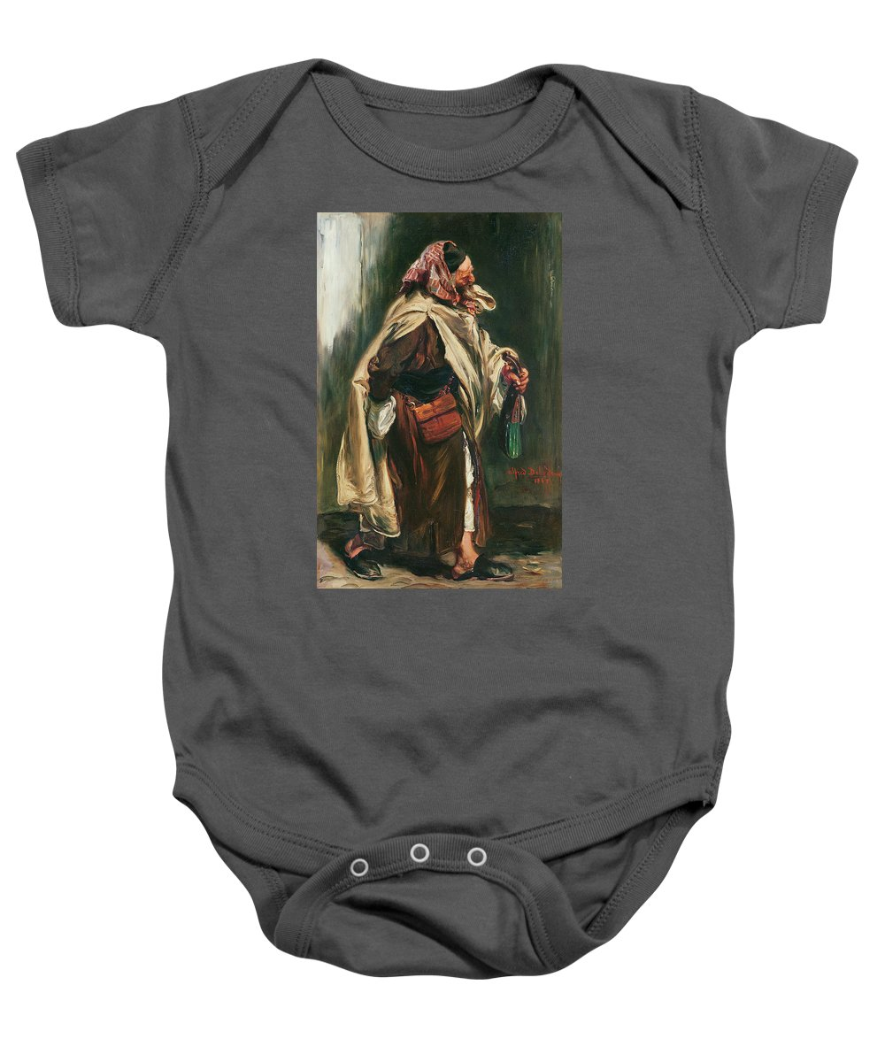 Male Baby Onesie featuring the photograph Elderly Moroccan Jew, 1867 Oil On Canvas by Alfred Dehodencq