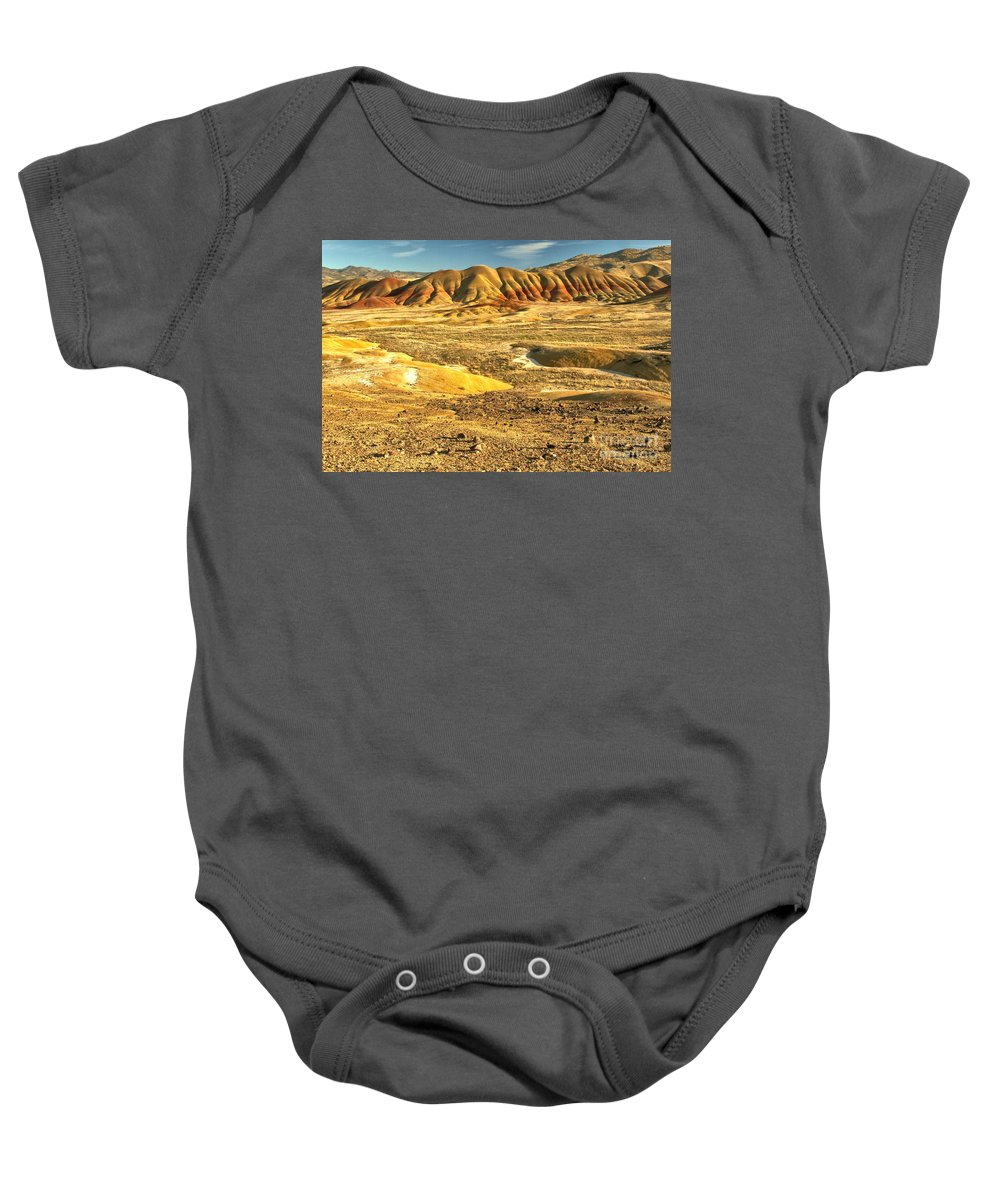 Painted Hills Baby Onesie featuring the photograph Endless Painted Hills by Adam Jewell