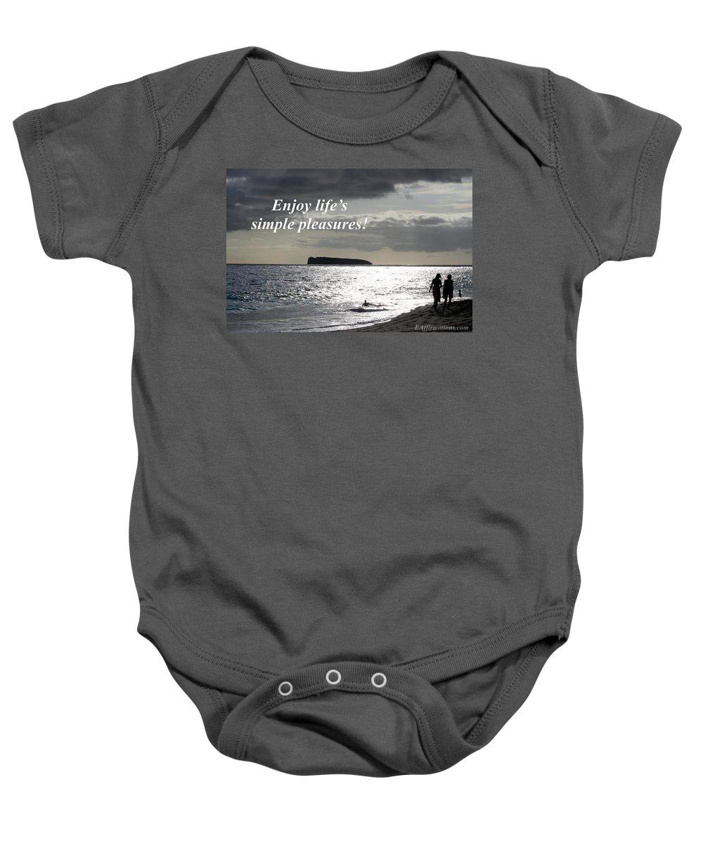 Sunset Baby Onesie featuring the photograph Enjoy Life's Simple Pleasures by Pharaoh Martin