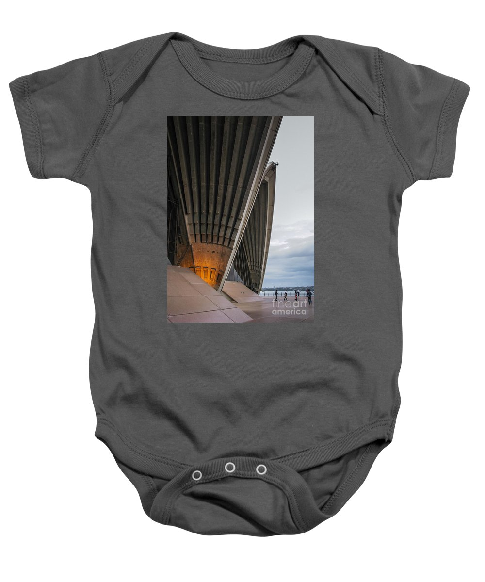 Architacture Baby Onesie featuring the photograph Entrance To Opera House In Sydney by Jola Martysz
