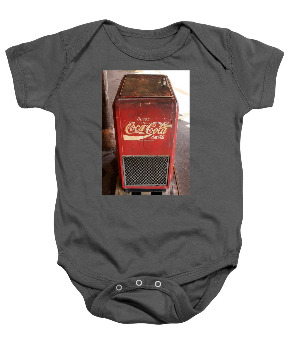 Epcot Baby Onesie featuring the photograph Epcot Old Coke by David Nicholls