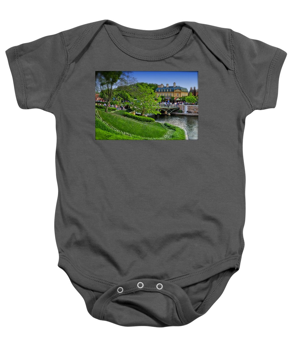 Epcot Photographs Baby Onesie featuring the photograph Epcot Summer Day Walt Disney World by Thomas Woolworth