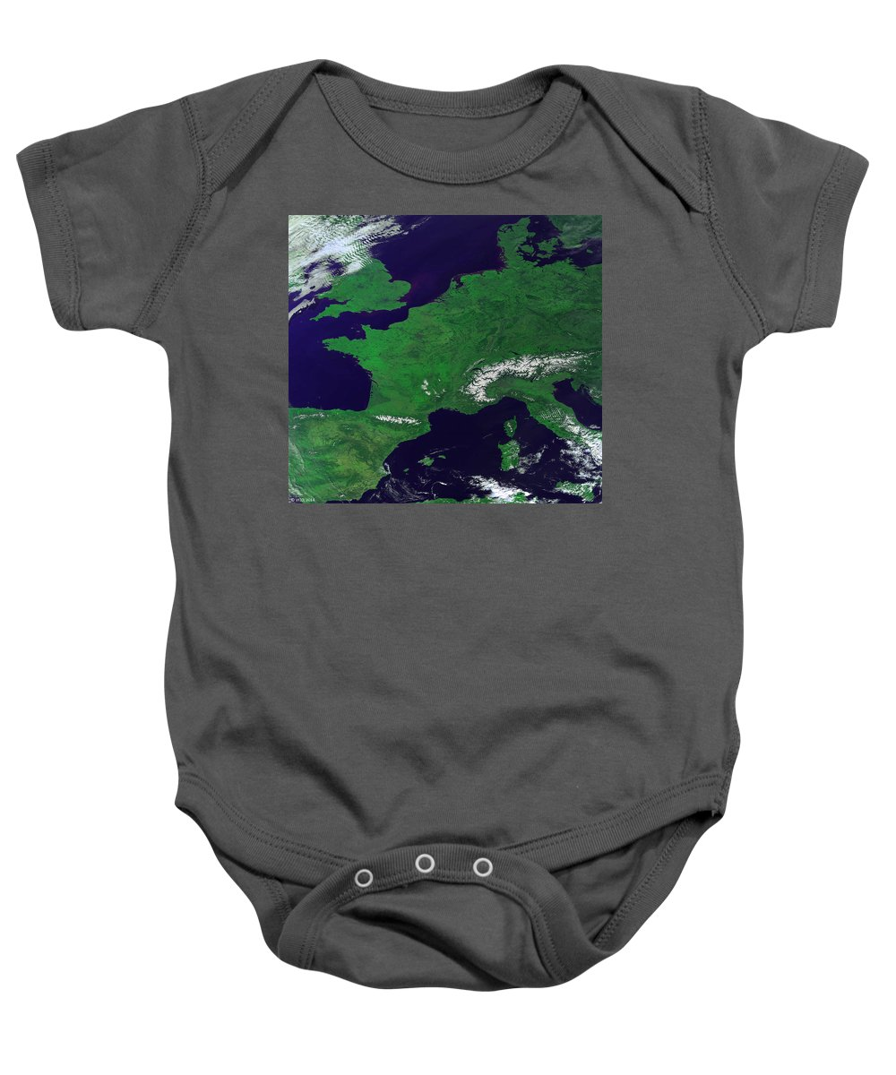 Aerial View Baby Onesie featuring the photograph Europe From Above by Science Source
