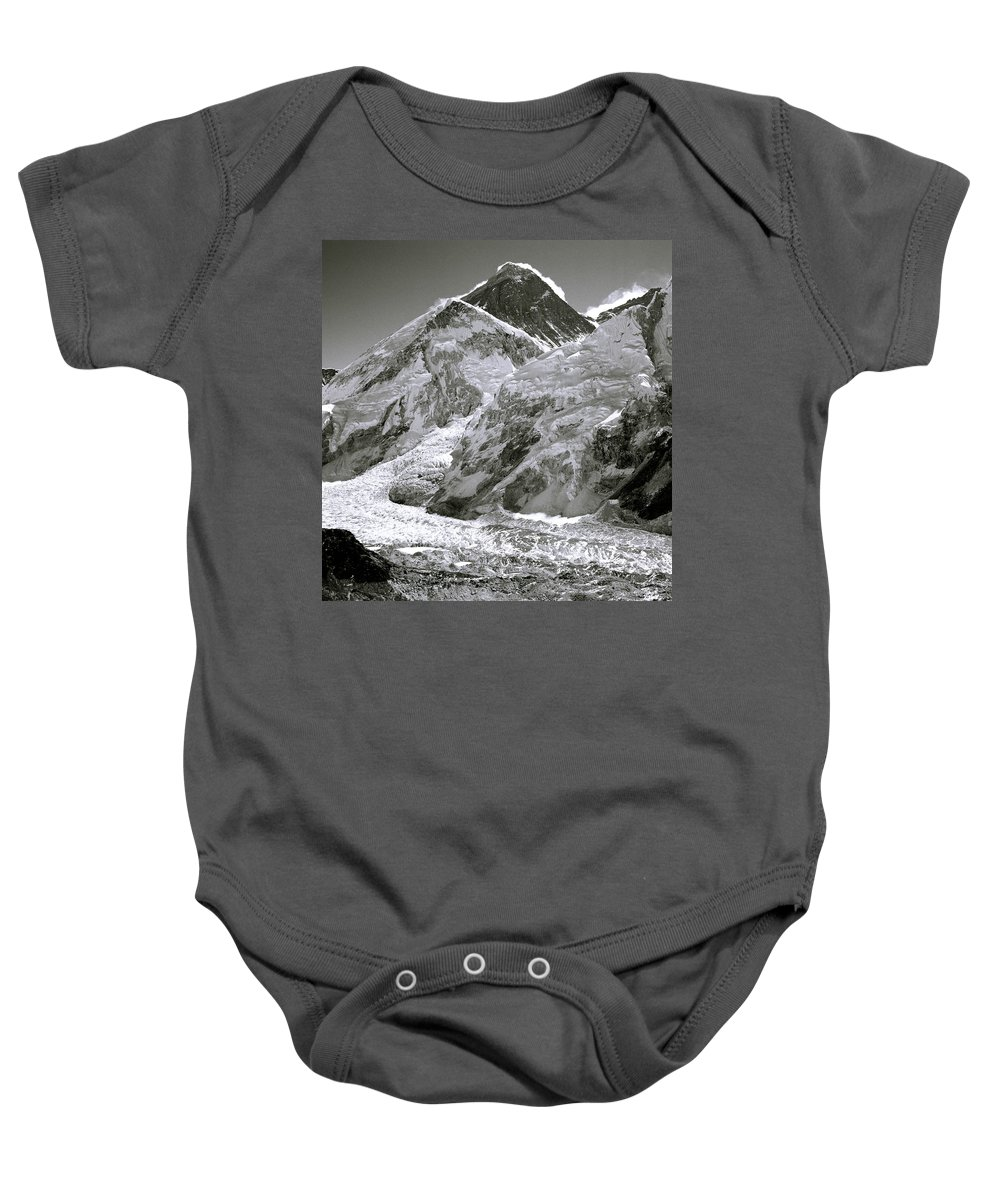 Everest Baby Onesie featuring the photograph Everest Sunrise by Shaun Higson