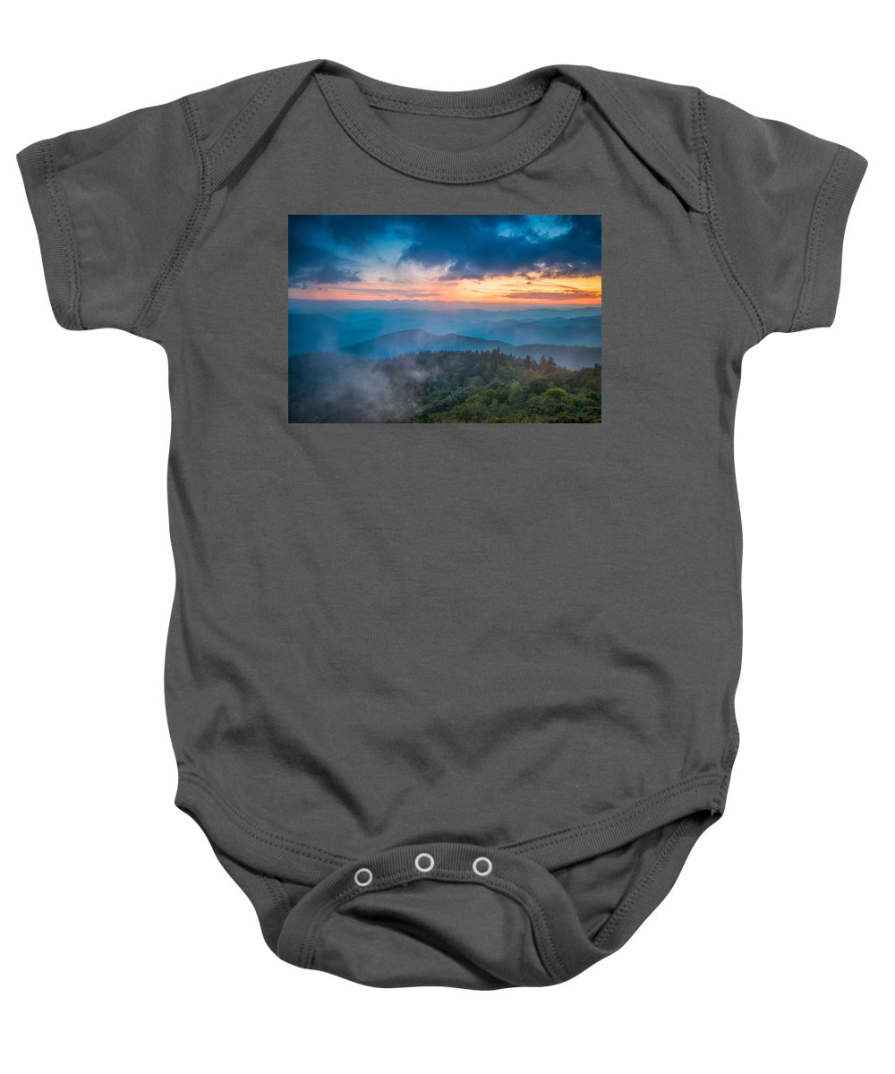 Asheville Baby Onesie featuring the photograph Exhale by Joye Ardyn Durham