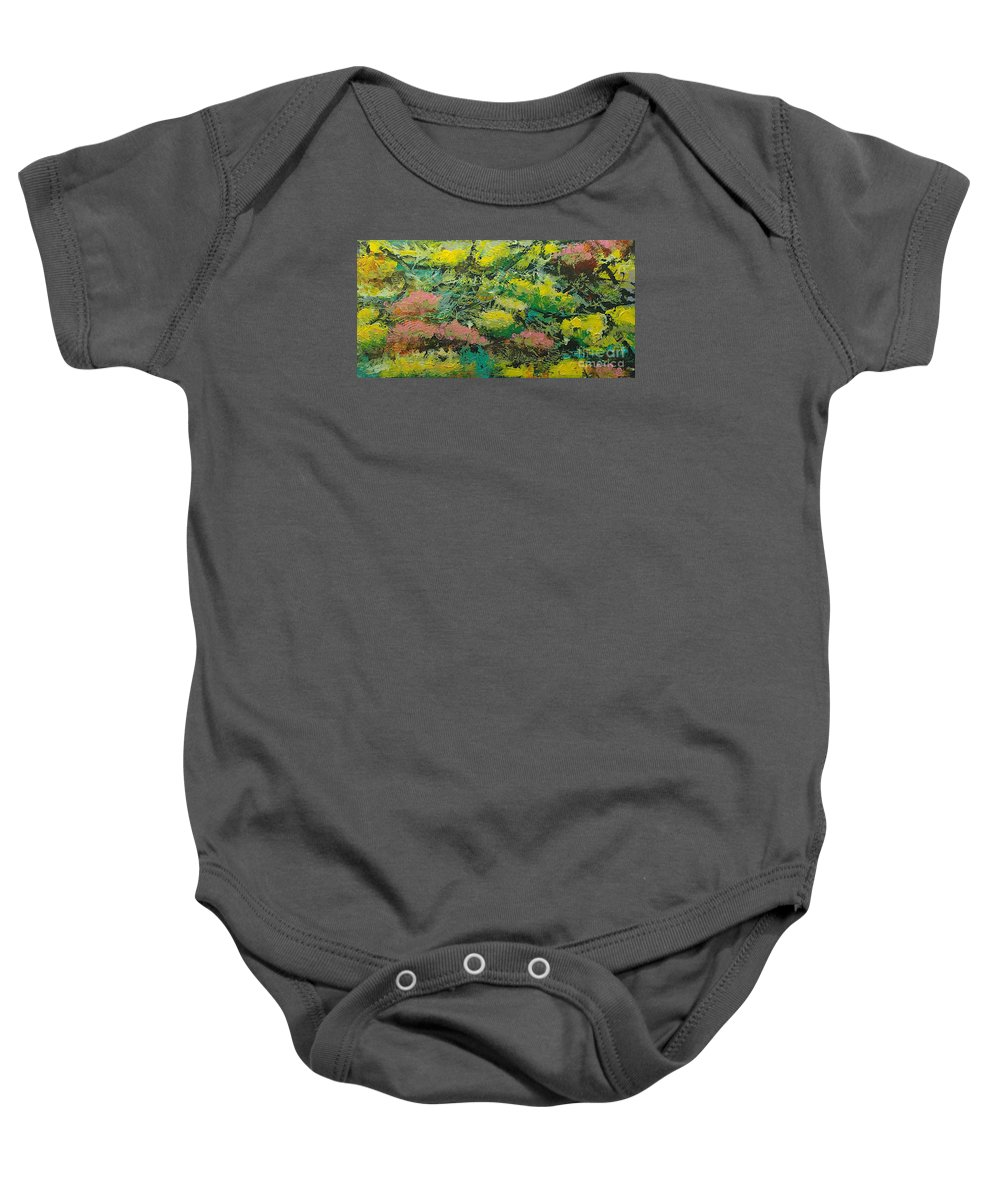 Landscape Baby Onesie featuring the painting Extract by Allan P Friedlander