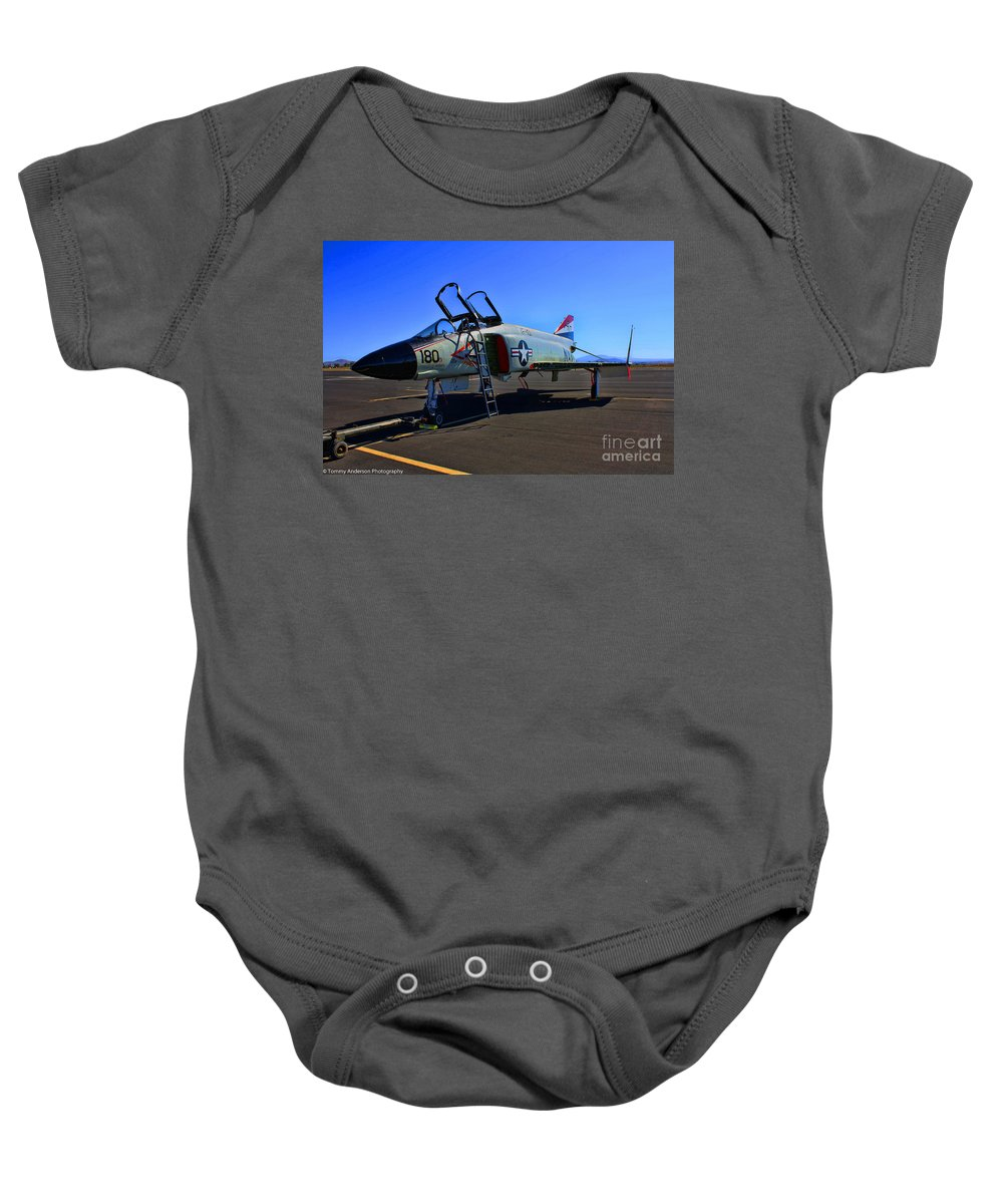 Mcdonnell Douglas F-4 Phantom 2 Baby Onesie featuring the photograph F-4 Phantom II No. 11 by Tommy Anderson