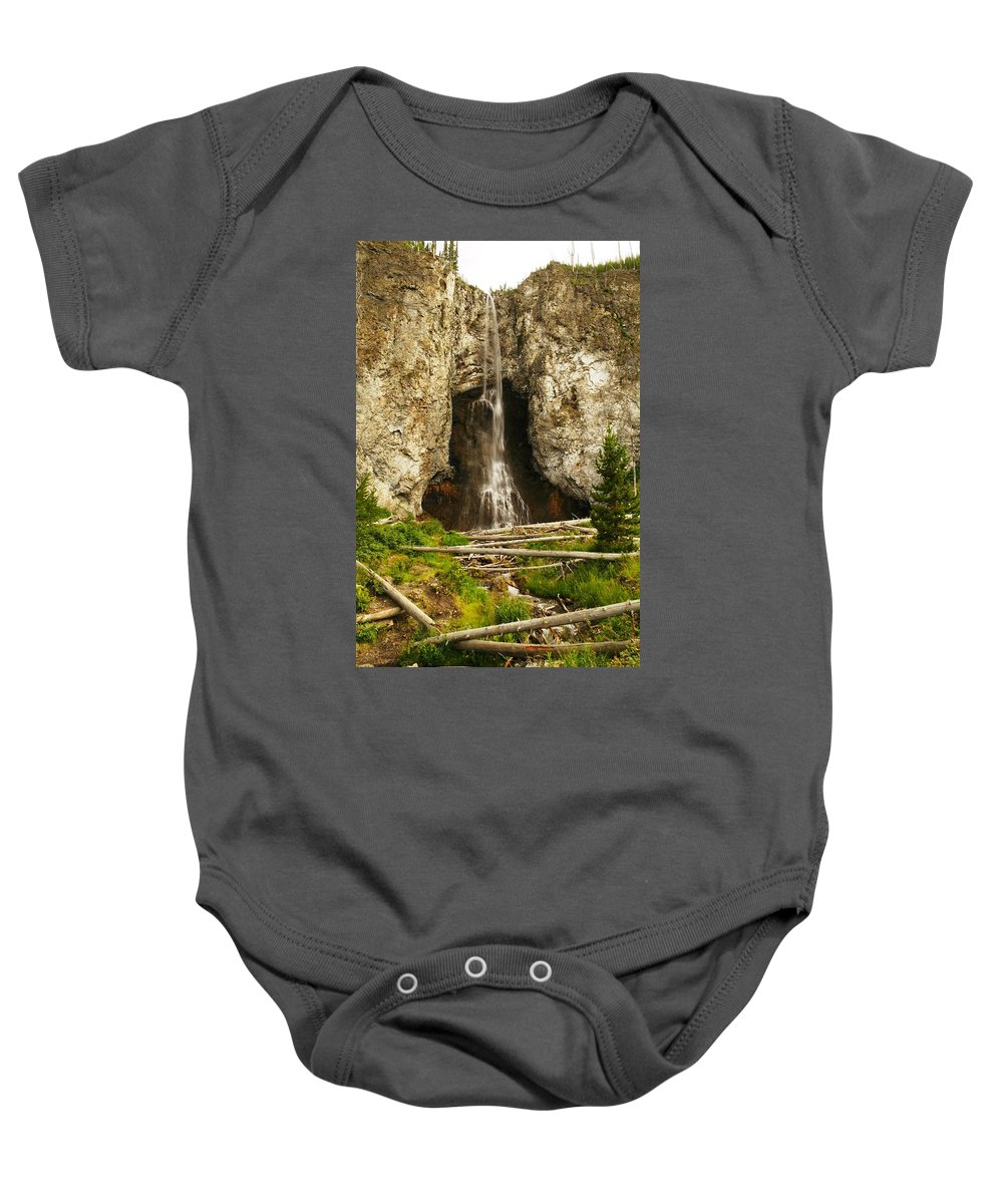 Water Baby Onesie featuring the photograph Fairy Falls by Jeff Swan