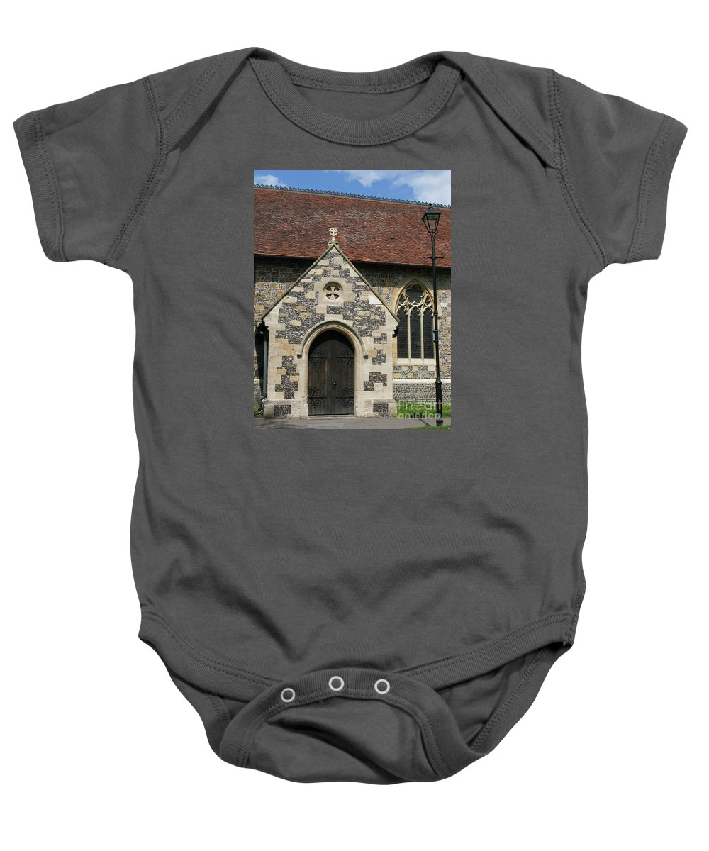 Church Baby Onesie featuring the photograph Faithful by Ann Horn