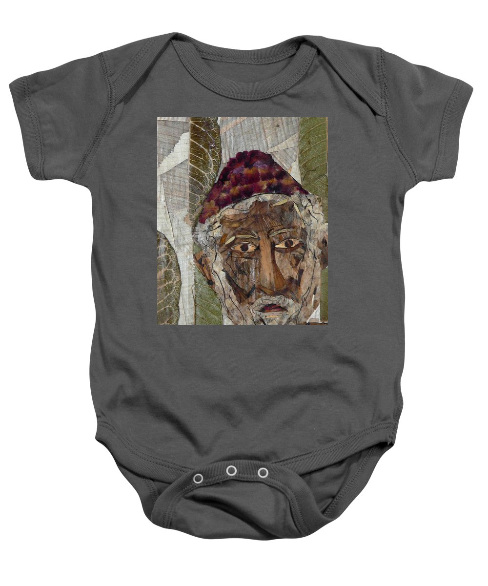 Portrait.holy Person Portrait Baby Onesie featuring the mixed media Fakeer by basant Soni