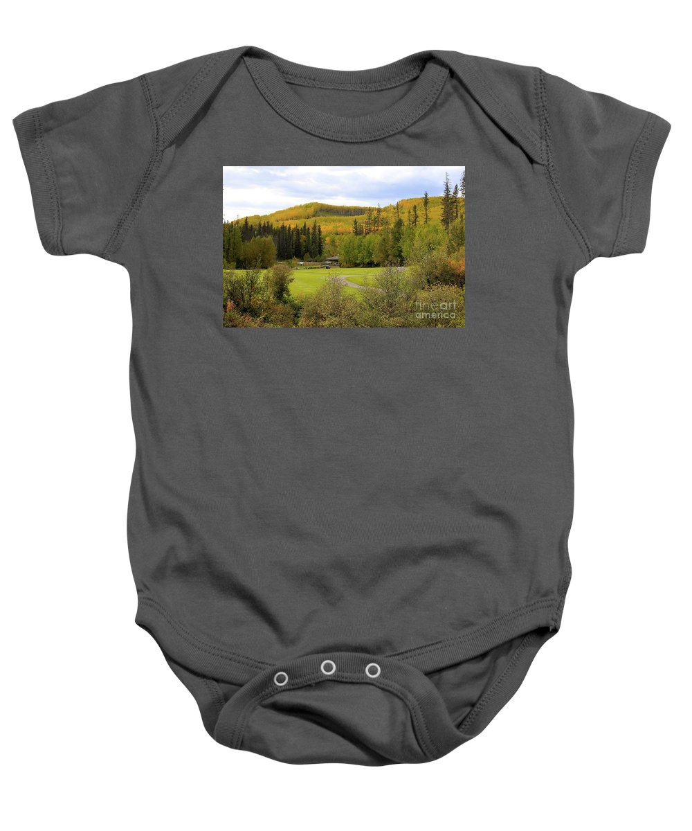 Golf Baby Onesie featuring the photograph Fall At The Course by Alanna DPhoto