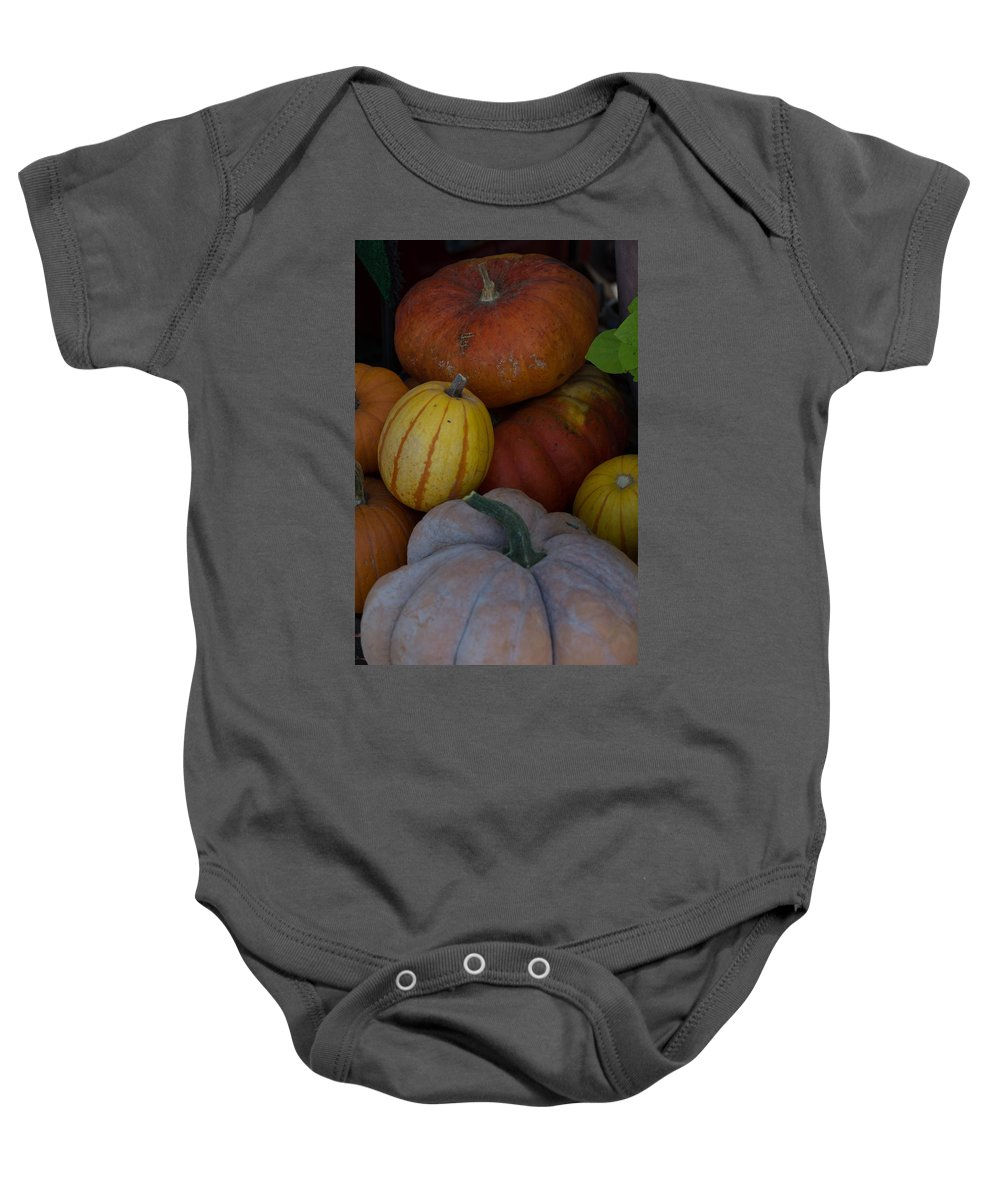 Fall Baby Onesie featuring the photograph Fall Harvest by Michael Moriarty