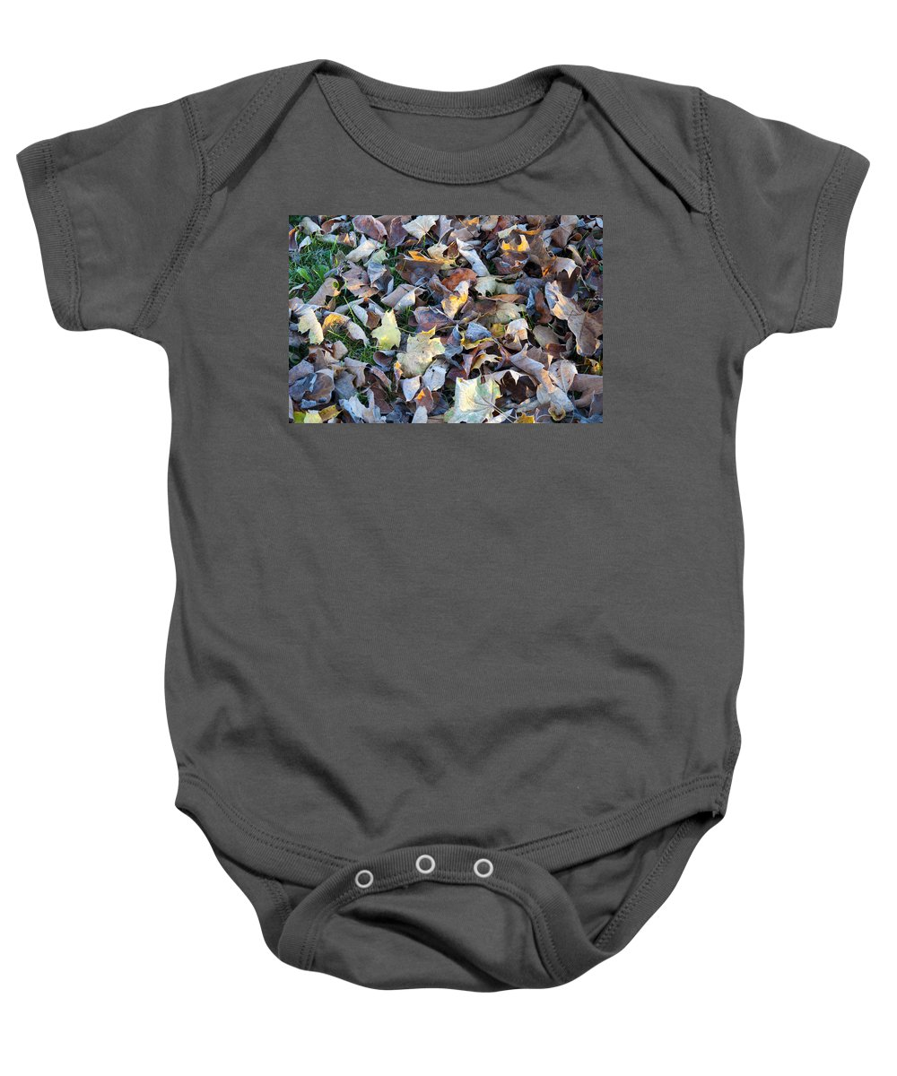 Fallen Baby Onesie featuring the photograph Fallen Leaves by Bill Cannon