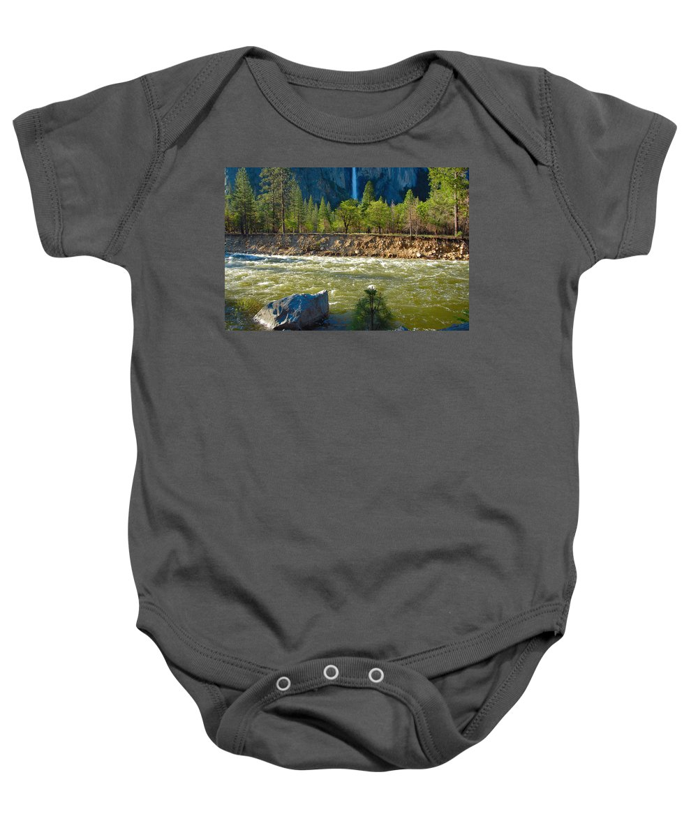 Falls Baby Onesie featuring the photograph Falls On The Merced by Lynn Bauer