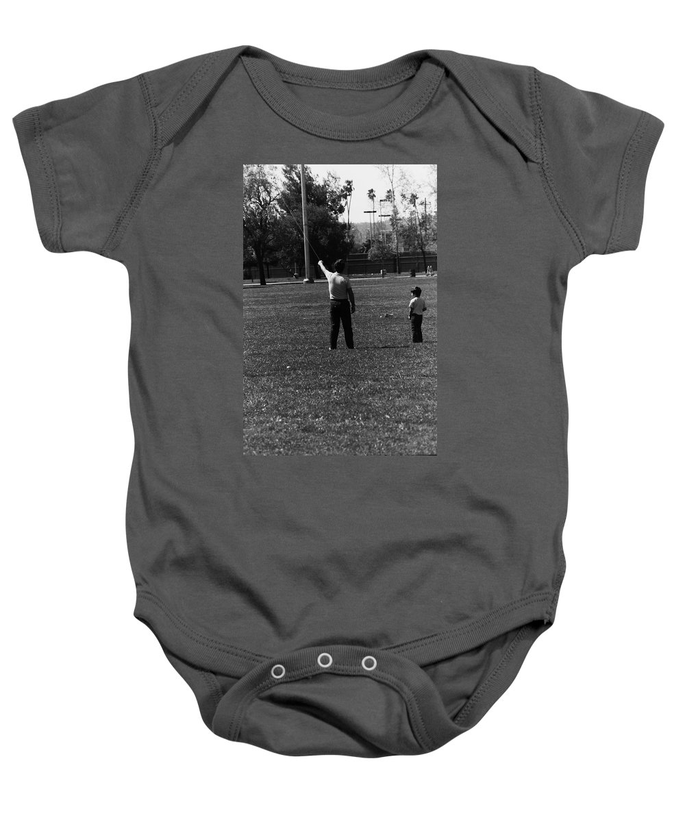 Father Baby Onesie featuring the photograph Father And Son by Karl Rose