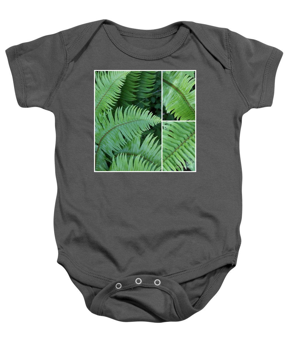 Fern Baby Onesie featuring the photograph Fern Collage by Carol Groenen