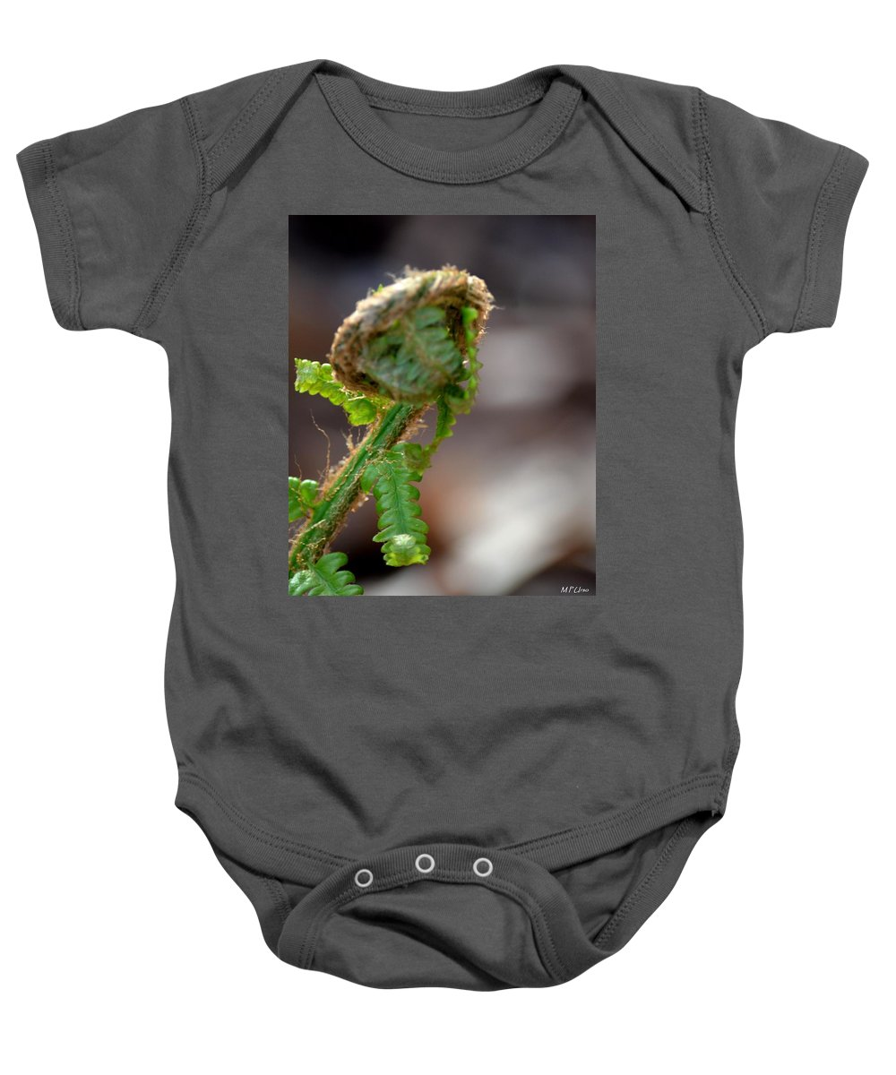 Fiddlehead 2 Baby Onesie featuring the photograph Fiddlehead 2 by Maria Urso
