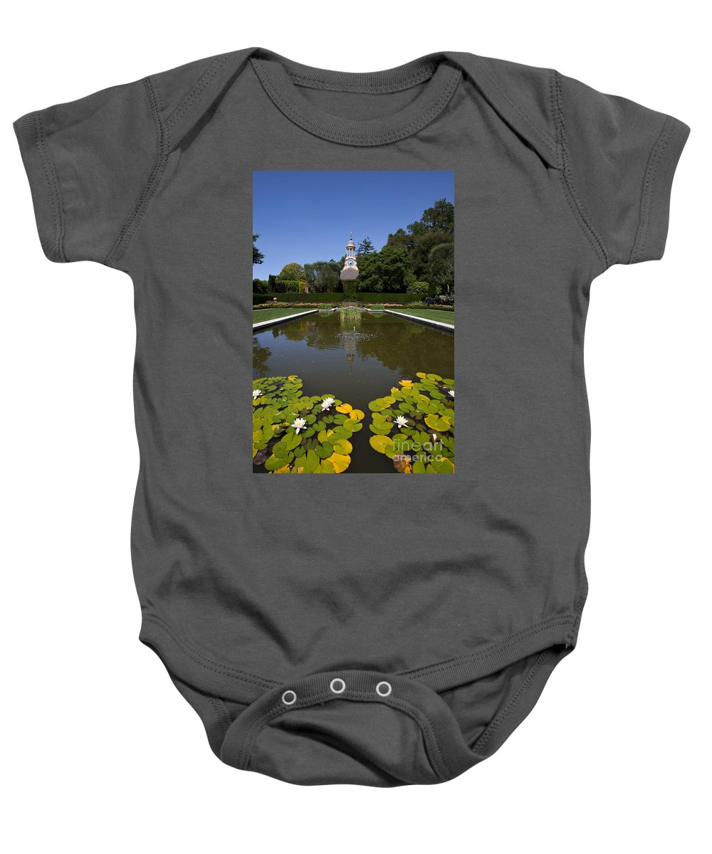 Filoli Baby Onesie featuring the photograph Filoli Garden Pond by Jason O Watson