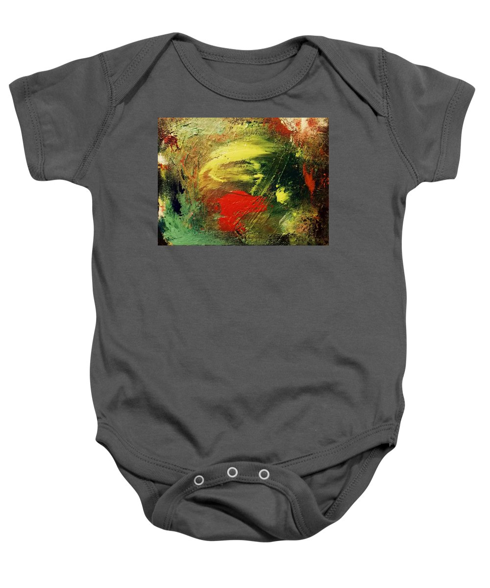 Abstract Art Baby Onesie featuring the painting Finale by Cat Fish