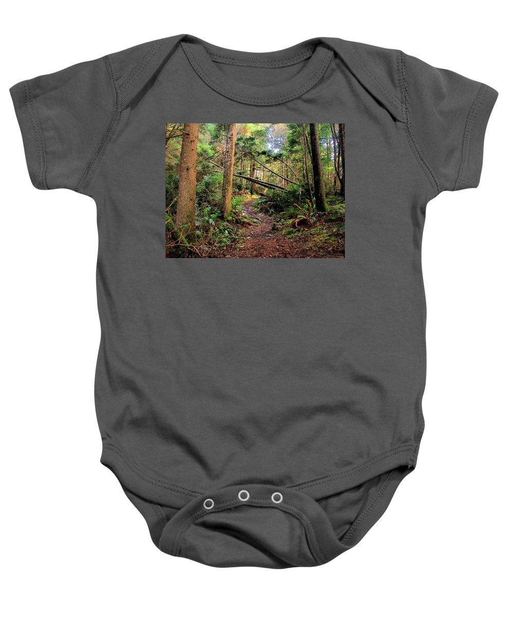 Forest Baby Onesie featuring the photograph Finding Myself by Joyce Dickens