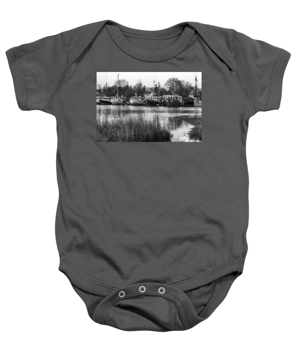 Fishing Baby Onesie featuring the photograph Fishing Boats by Eric Gendron