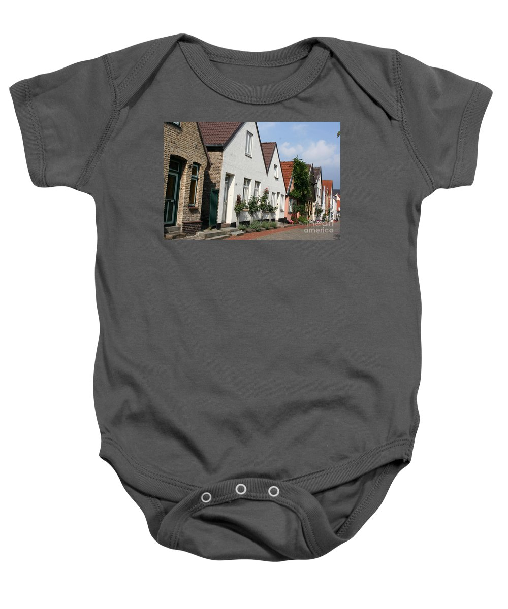 Fishingvillage Baby Onesie featuring the photograph Fishingvillage Holm by Christiane Schulze Art And Photography