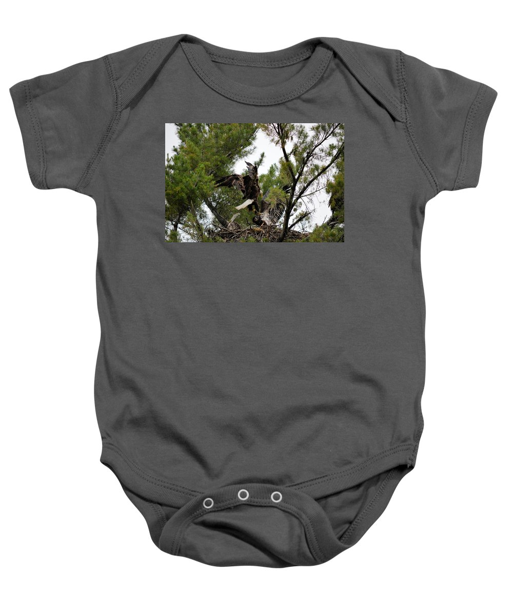 Eagle Baby Onesie featuring the photograph Fishmeal by Bonfire Photography