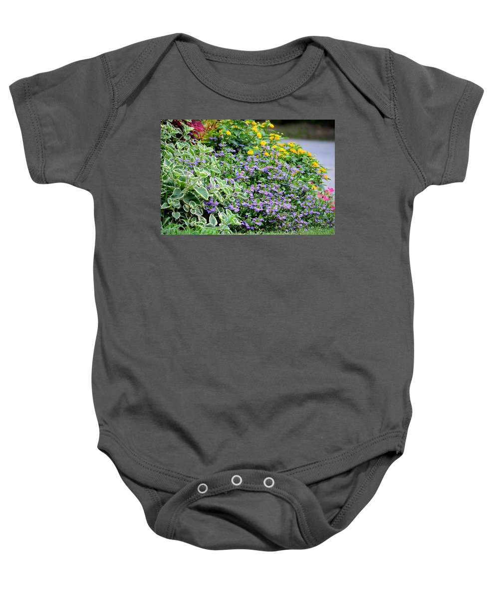 Floral 7 Baby Onesie featuring the photograph Flora 7 by Maria Urso