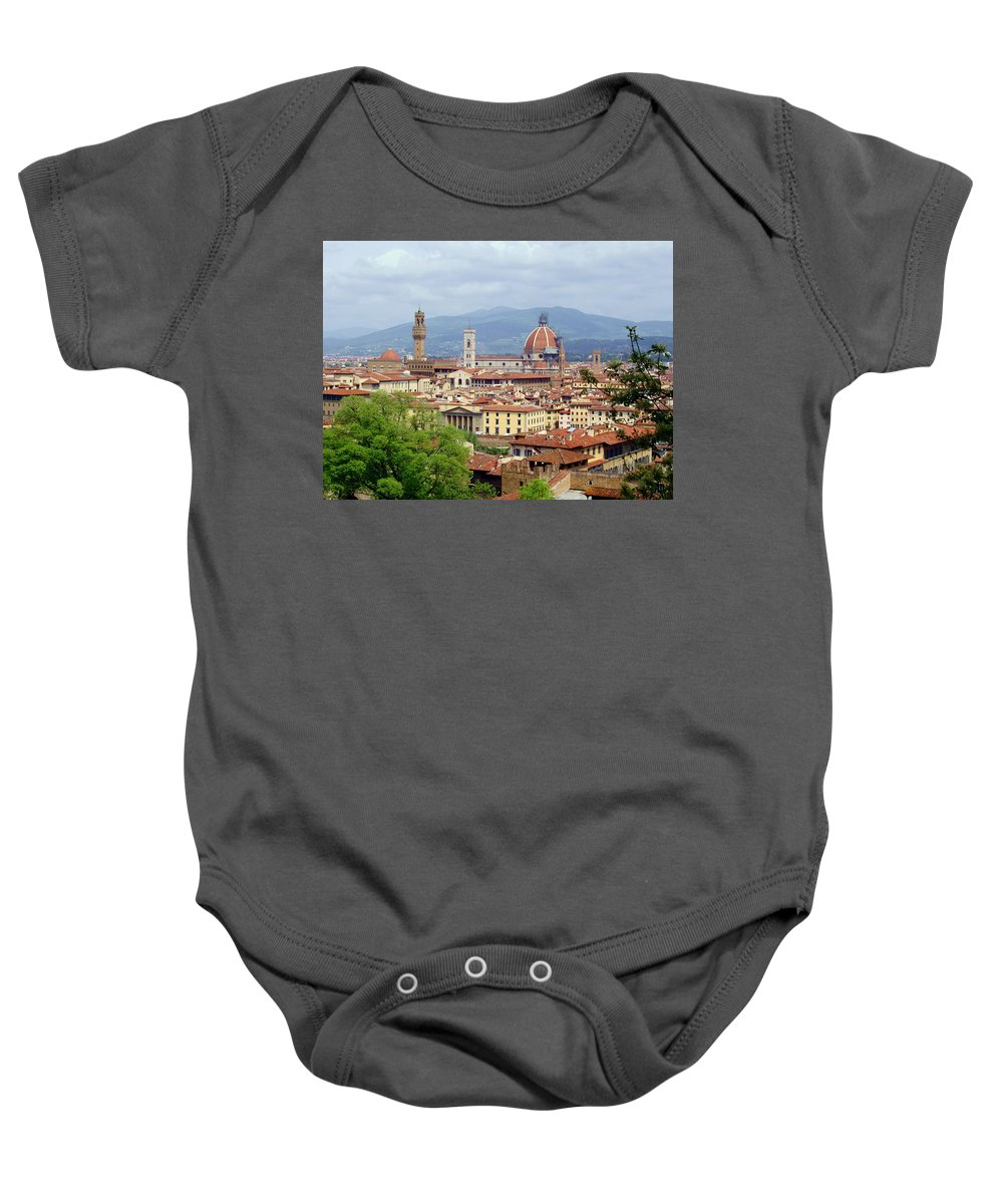 Florence Baby Onesie featuring the photograph Florence by Ellen Henneke