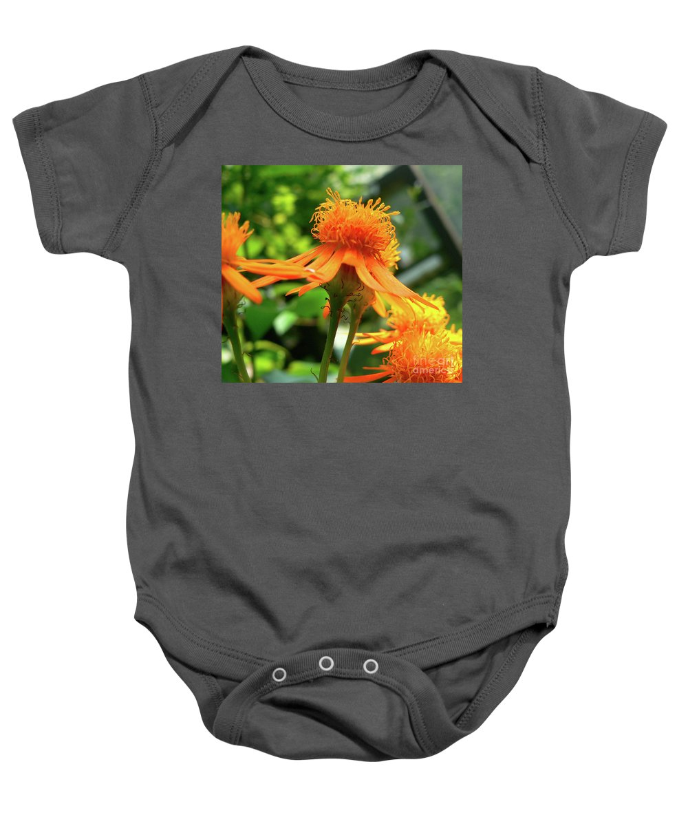 Flower Baby Onesie featuring the photograph Flower Top by Angela Wright