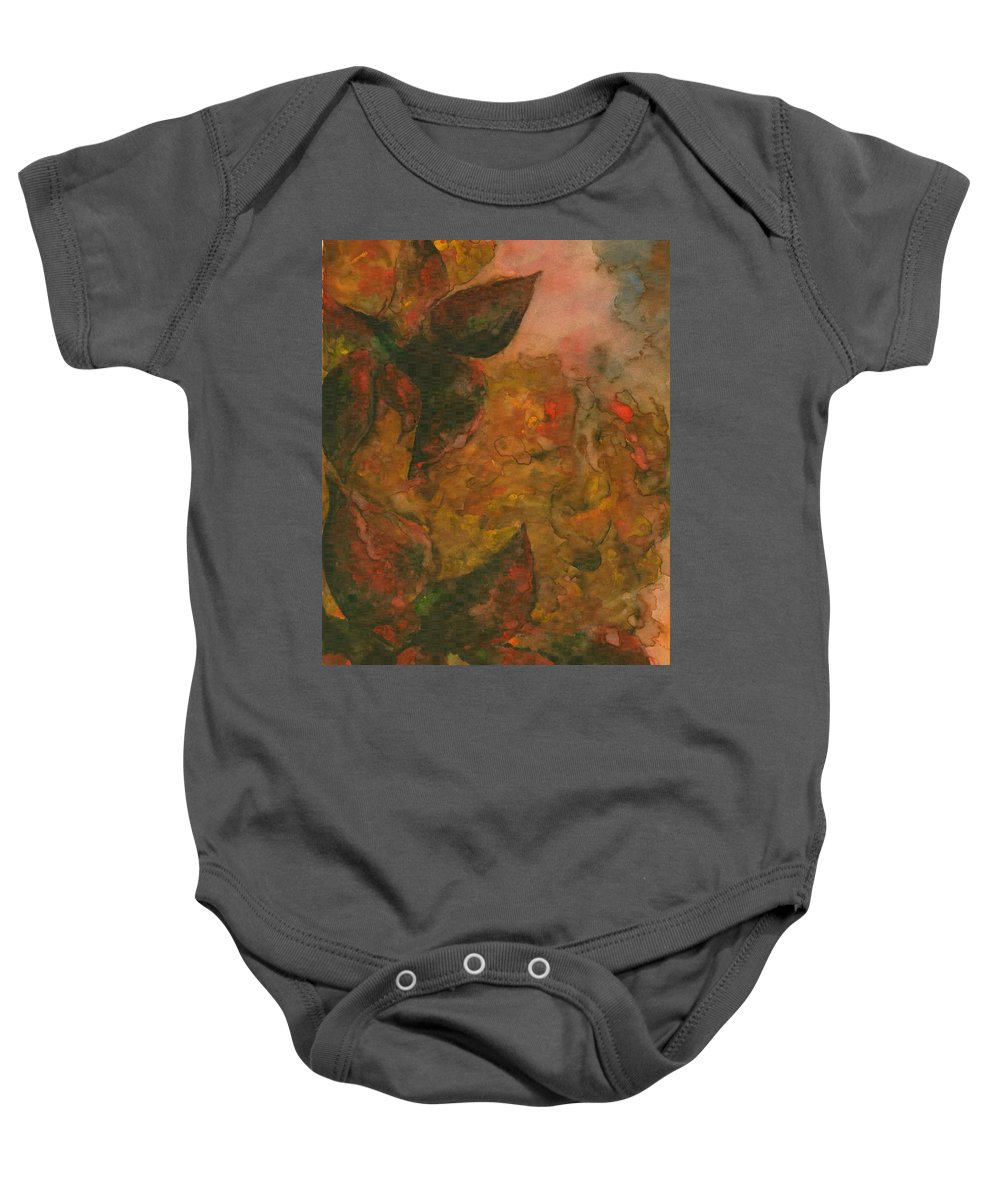 Colour Baby Onesie featuring the painting Flowers 1 by Wojtek Kowalski