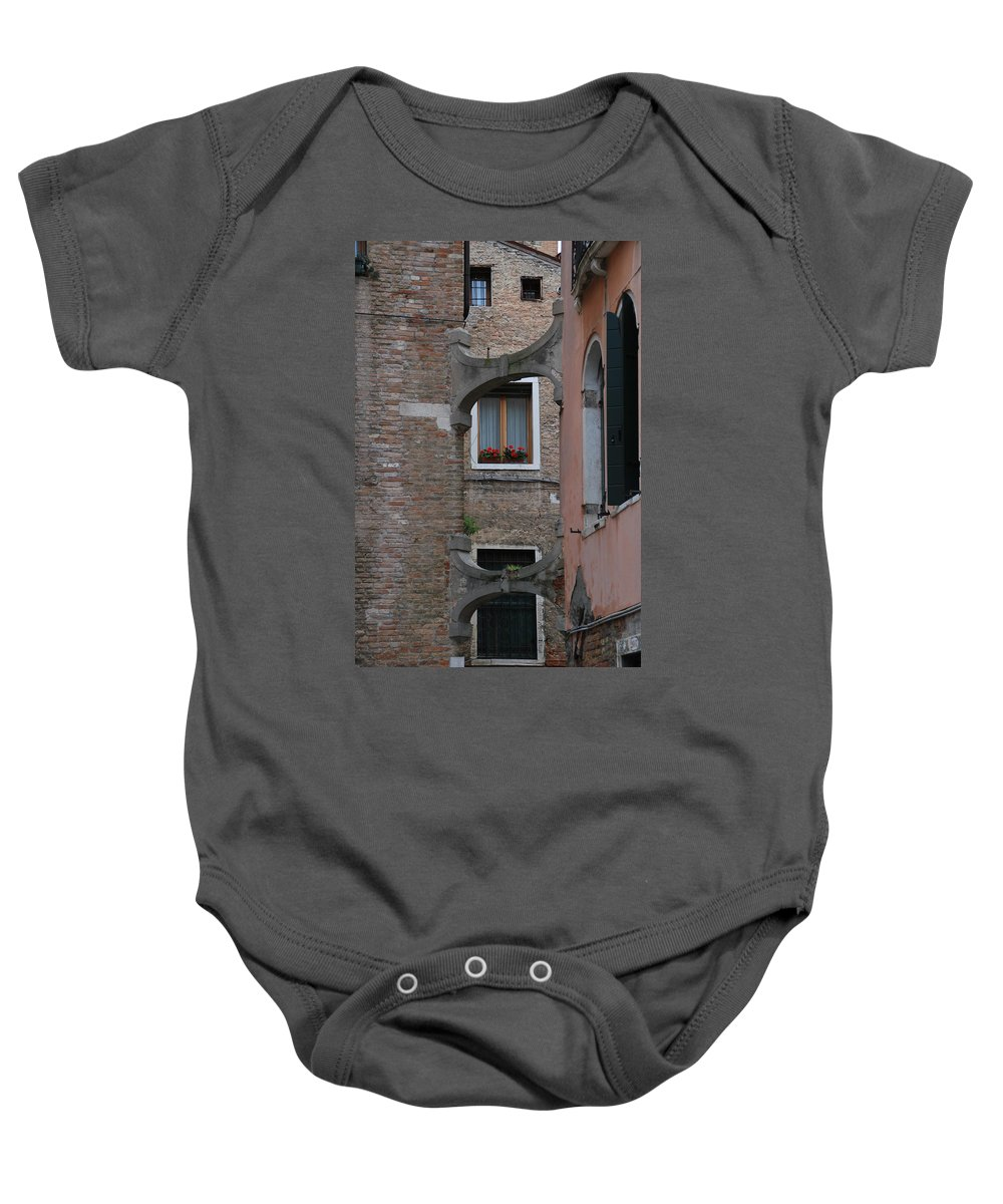 Flowers Baby Onesie featuring the photograph Flowers In A Window by Richard Booth