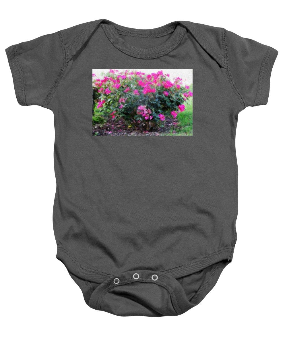 Flowers Baby Onesie featuring the digital art Flowers by Michael Stowers