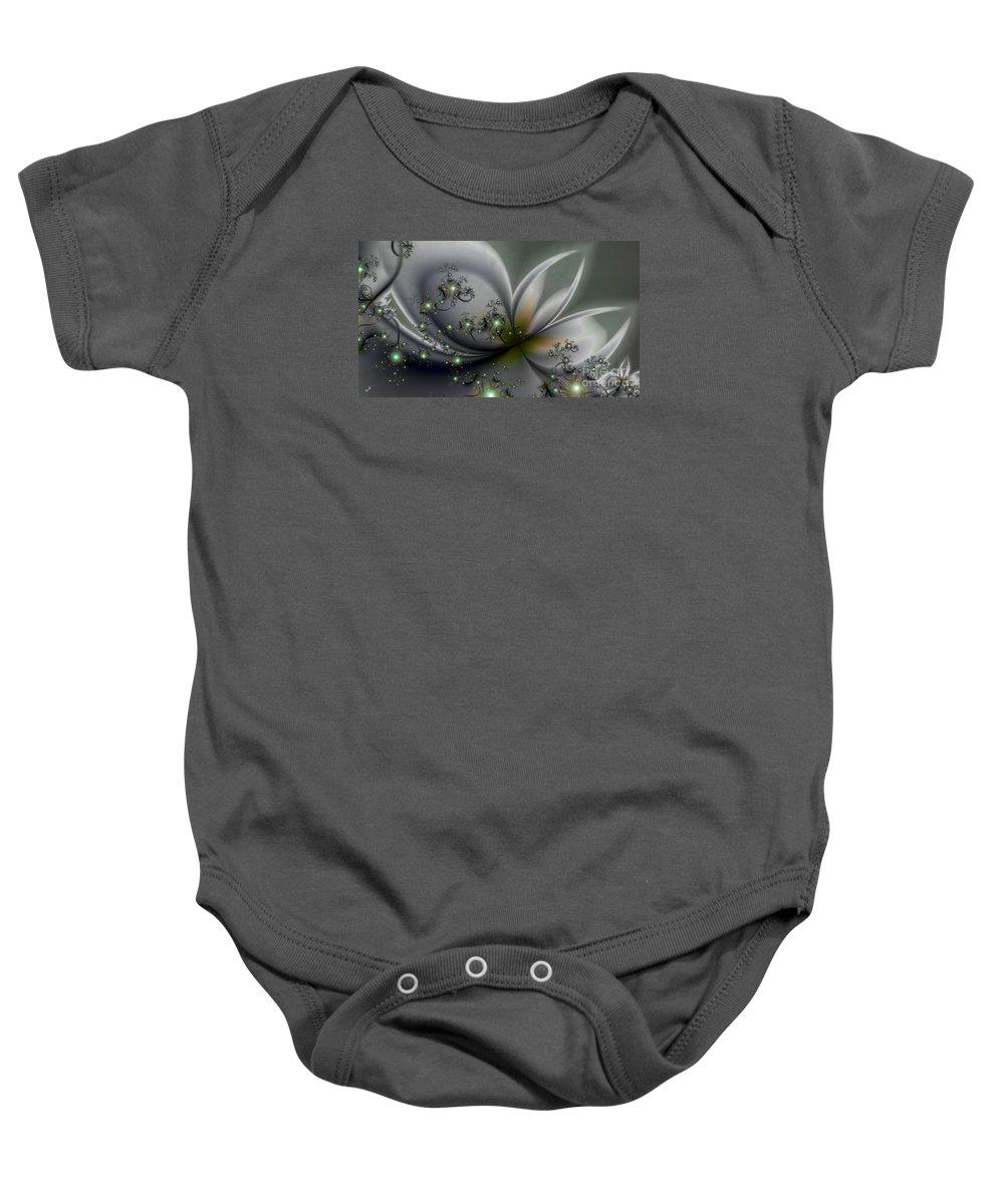 Flutterby Baby Onesie featuring the digital art Flutterby by Kimberly Hansen