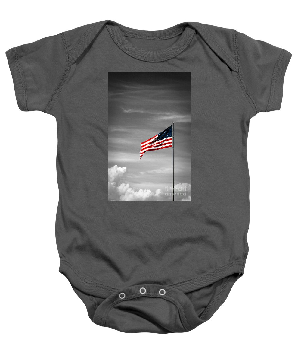 Us Flag Baby Onesie featuring the photograph Flying High 6 by Earl Johnson