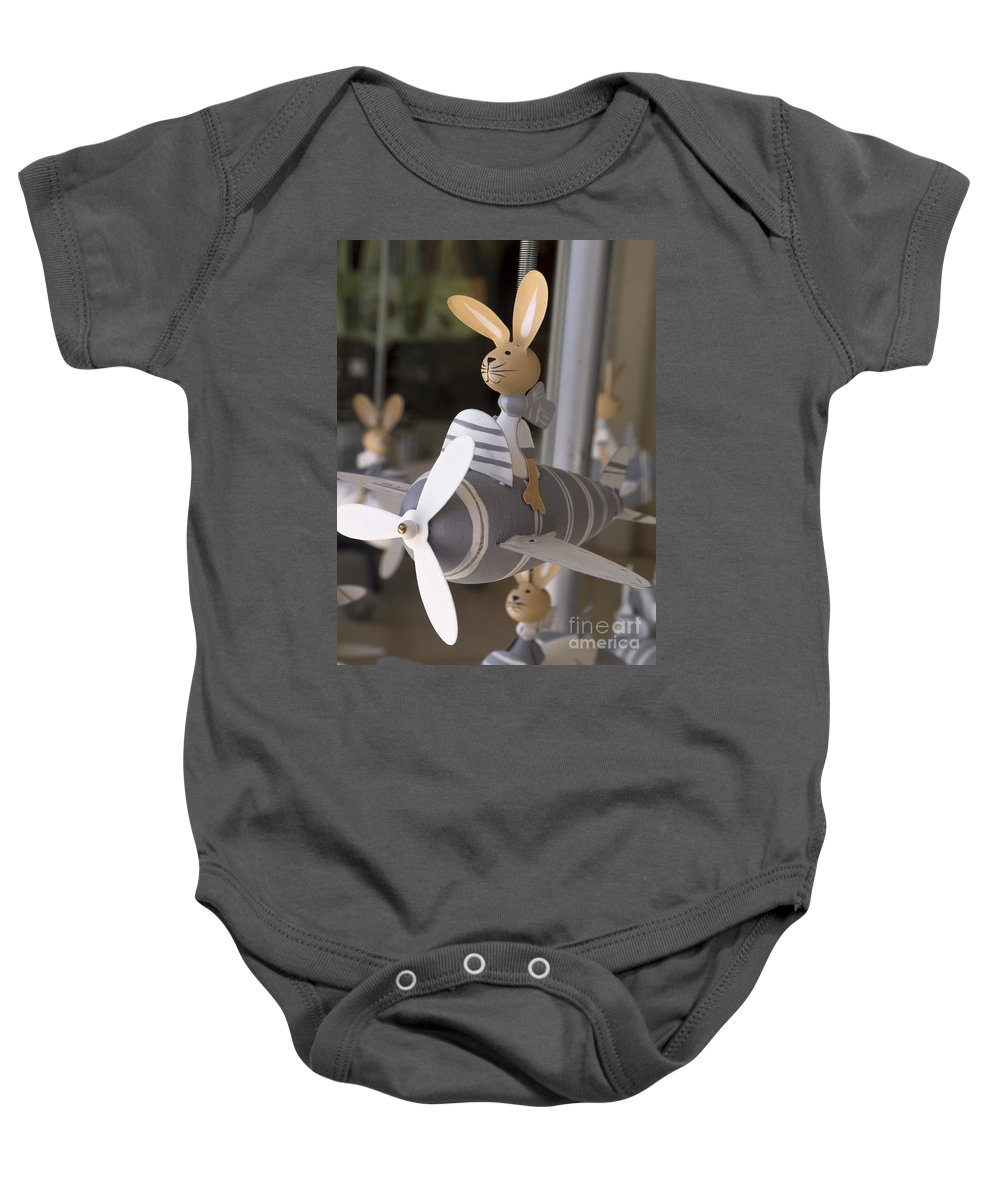 Rabbits Baby Onesie featuring the photograph Flying High by Gillian Singleton