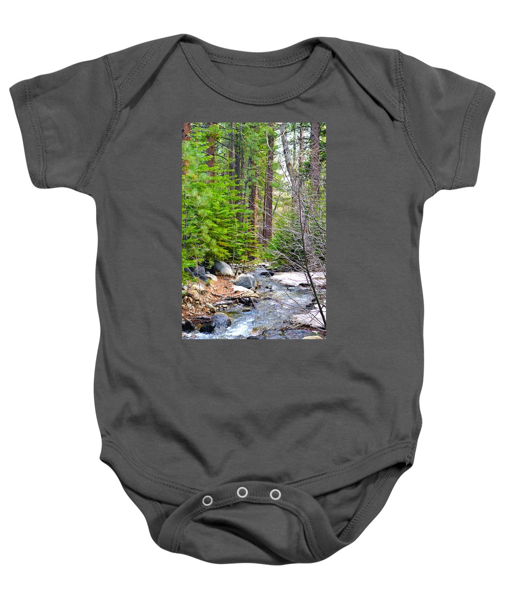 Nevada Baby Onesie featuring the photograph Forest Creek 2 by Brent Dolliver