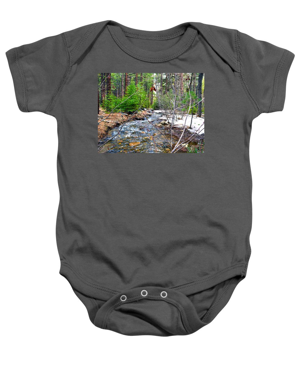 Nevada Baby Onesie featuring the photograph Forest Creek by Brent Dolliver