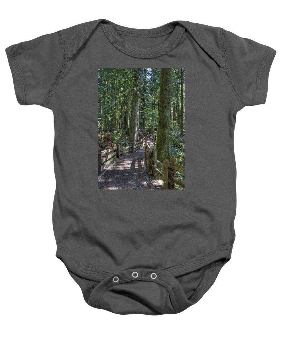 Rail Fence Baby Onesie featuring the photograph Forest Path by Randy Hall