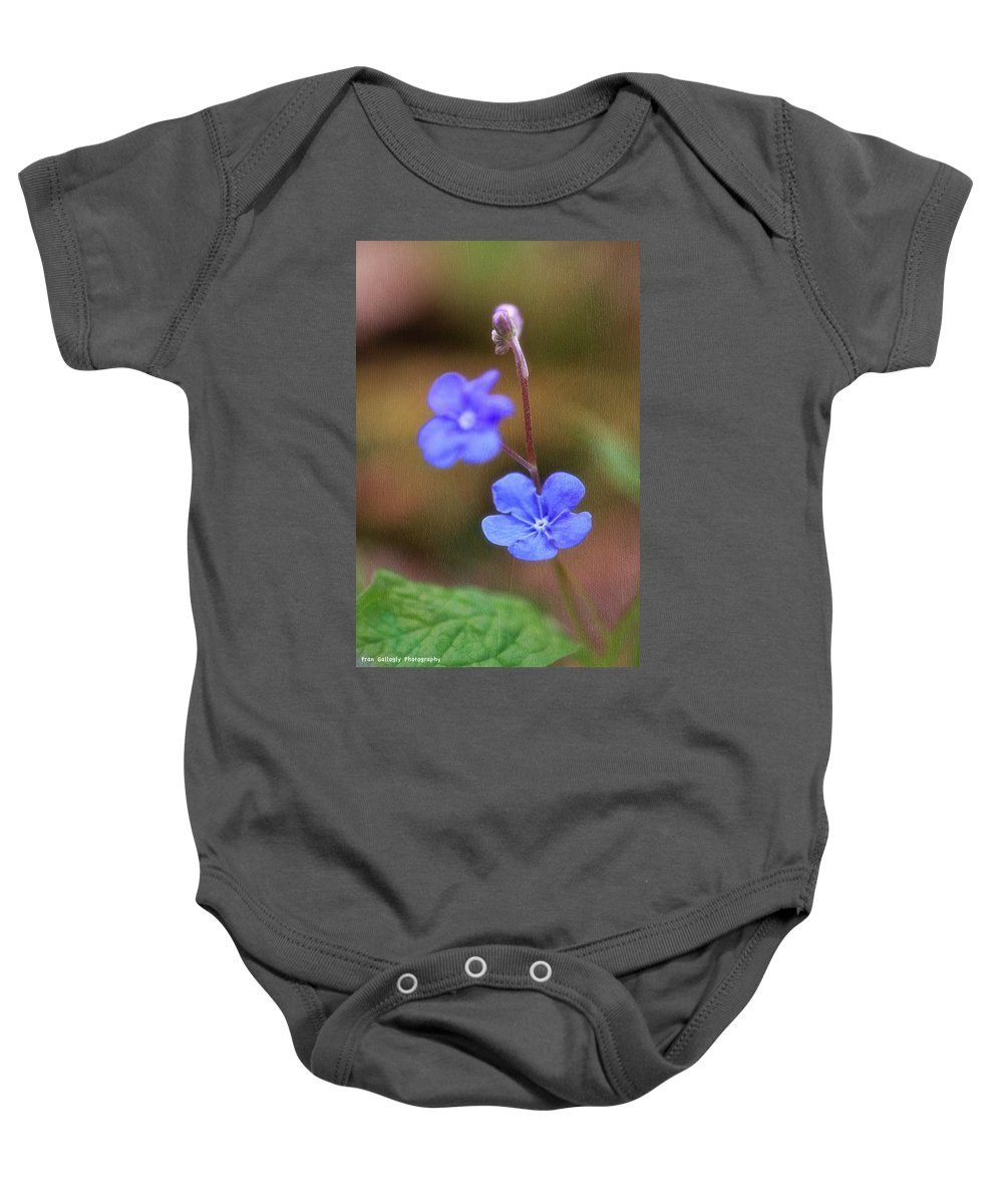 Flower Baby Onesie featuring the photograph Forget Me Not by Fran Gallogly