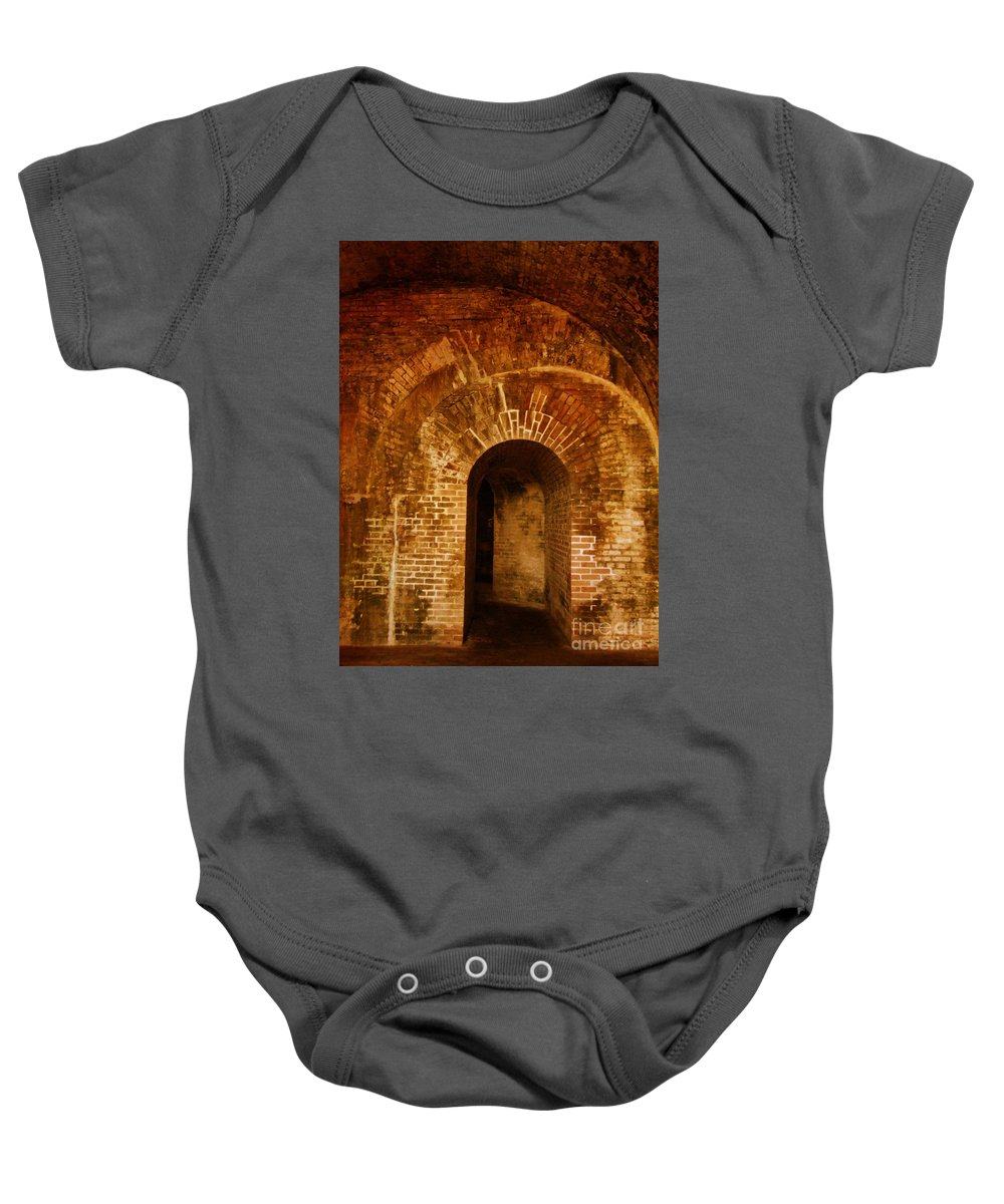 National Baby Onesie featuring the photograph Fort Pickens by Andrea Anderegg