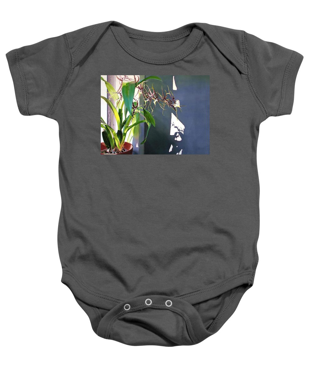 Plant Baby Onesie featuring the painting Frailty by Denny Bond
