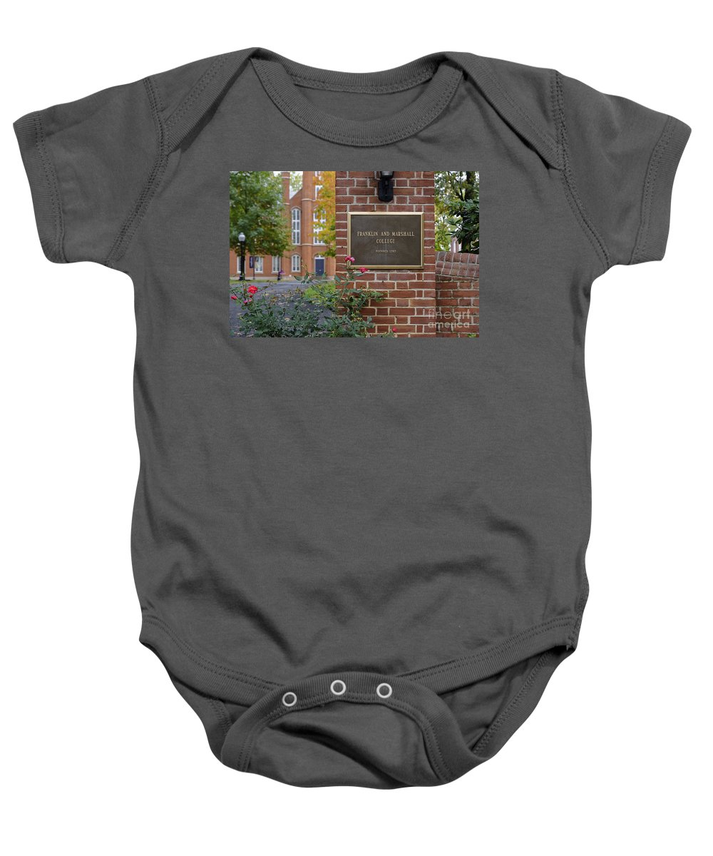 America Baby Onesie featuring the photograph Franklin And Marshall by John Greim