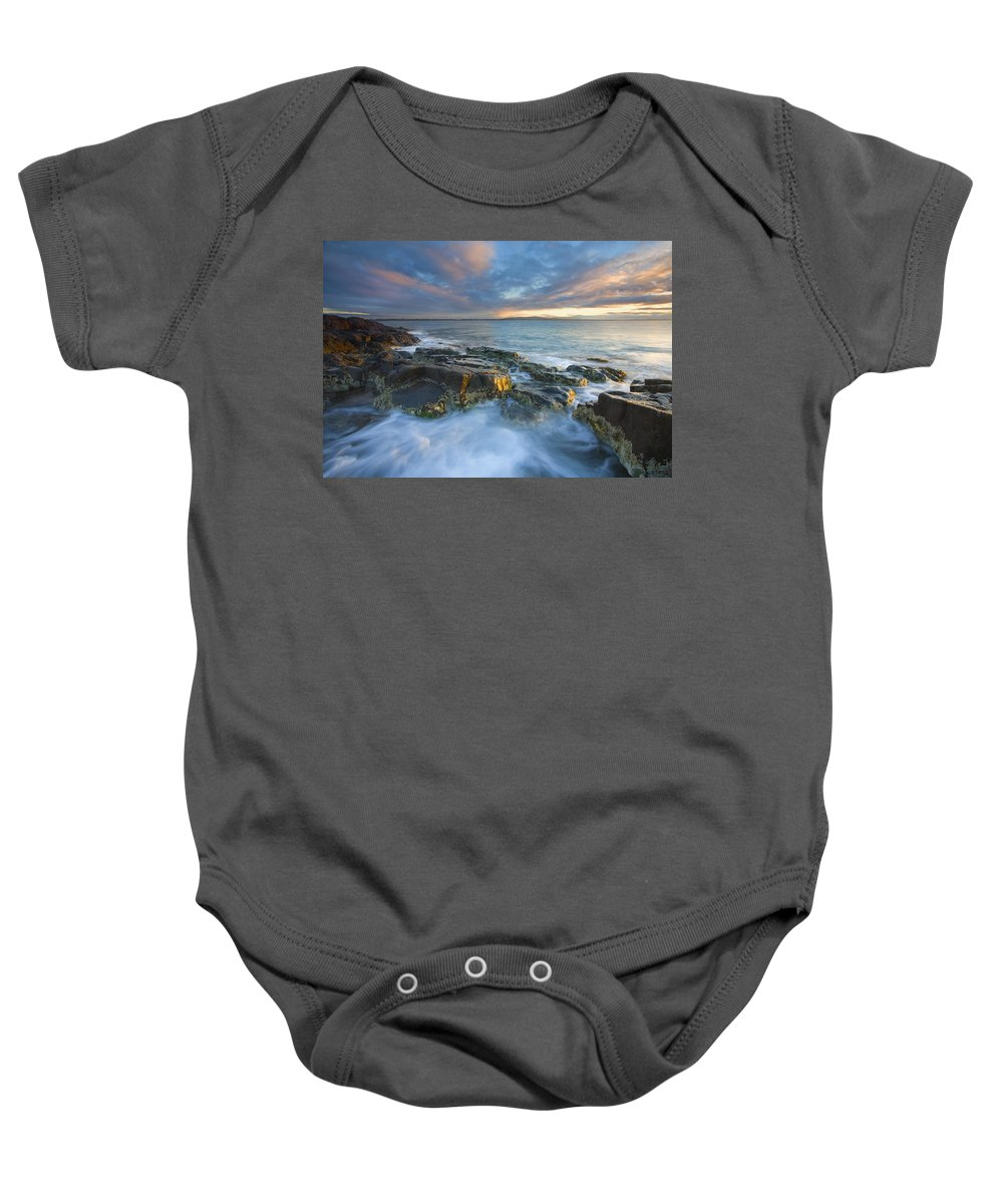 Freycinet Baby Onesie featuring the photograph Freycinet Cloud Explosion by Mike Dawson