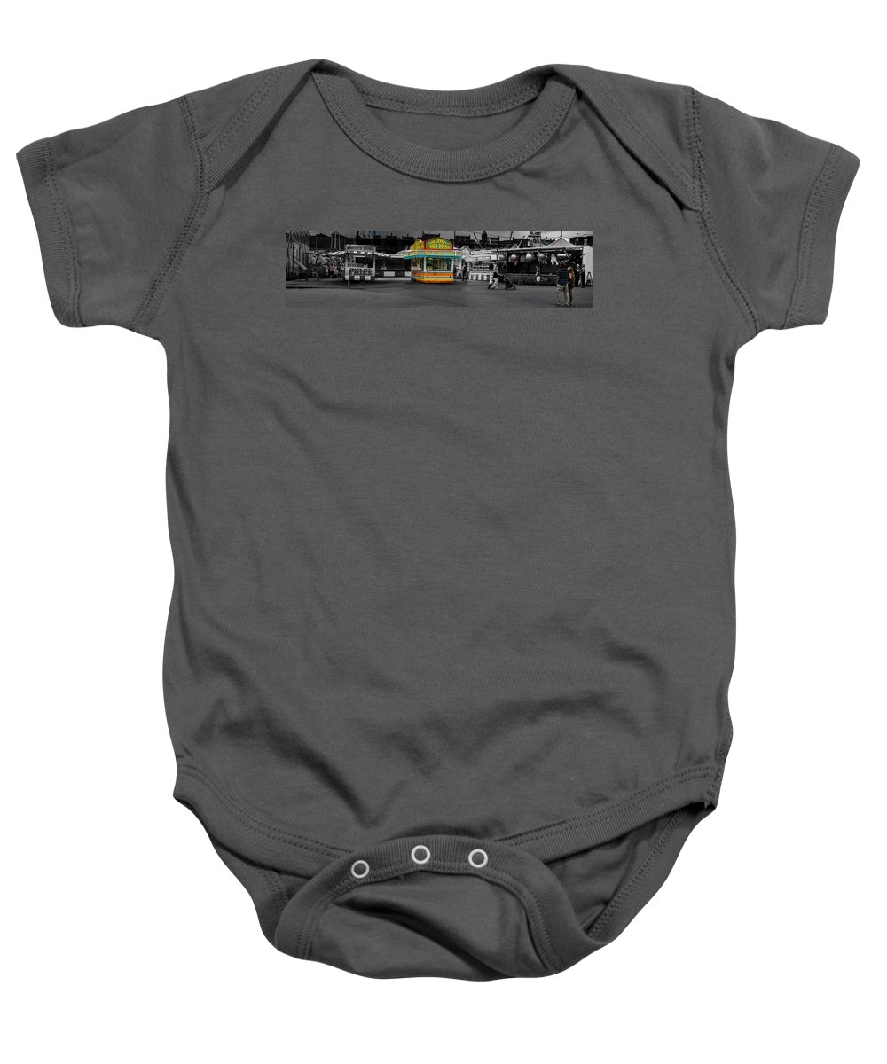 Panorama Baby Onesie featuring the photograph Fried Dough by Bob Orsillo