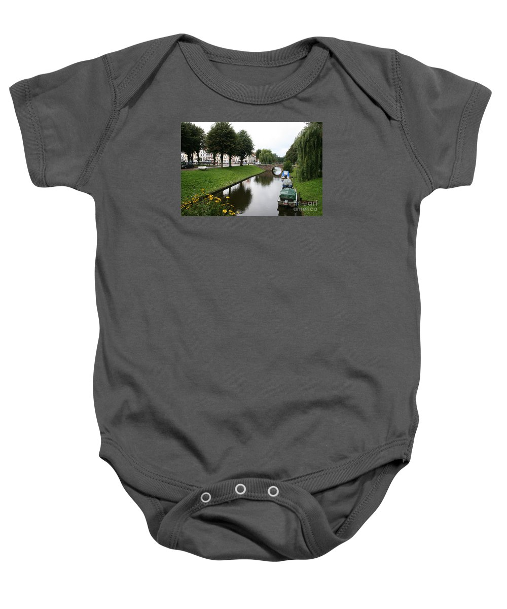Town Canal Baby Onesie featuring the photograph Friedrichstadt - Germany by Christiane Schulze Art And Photography
