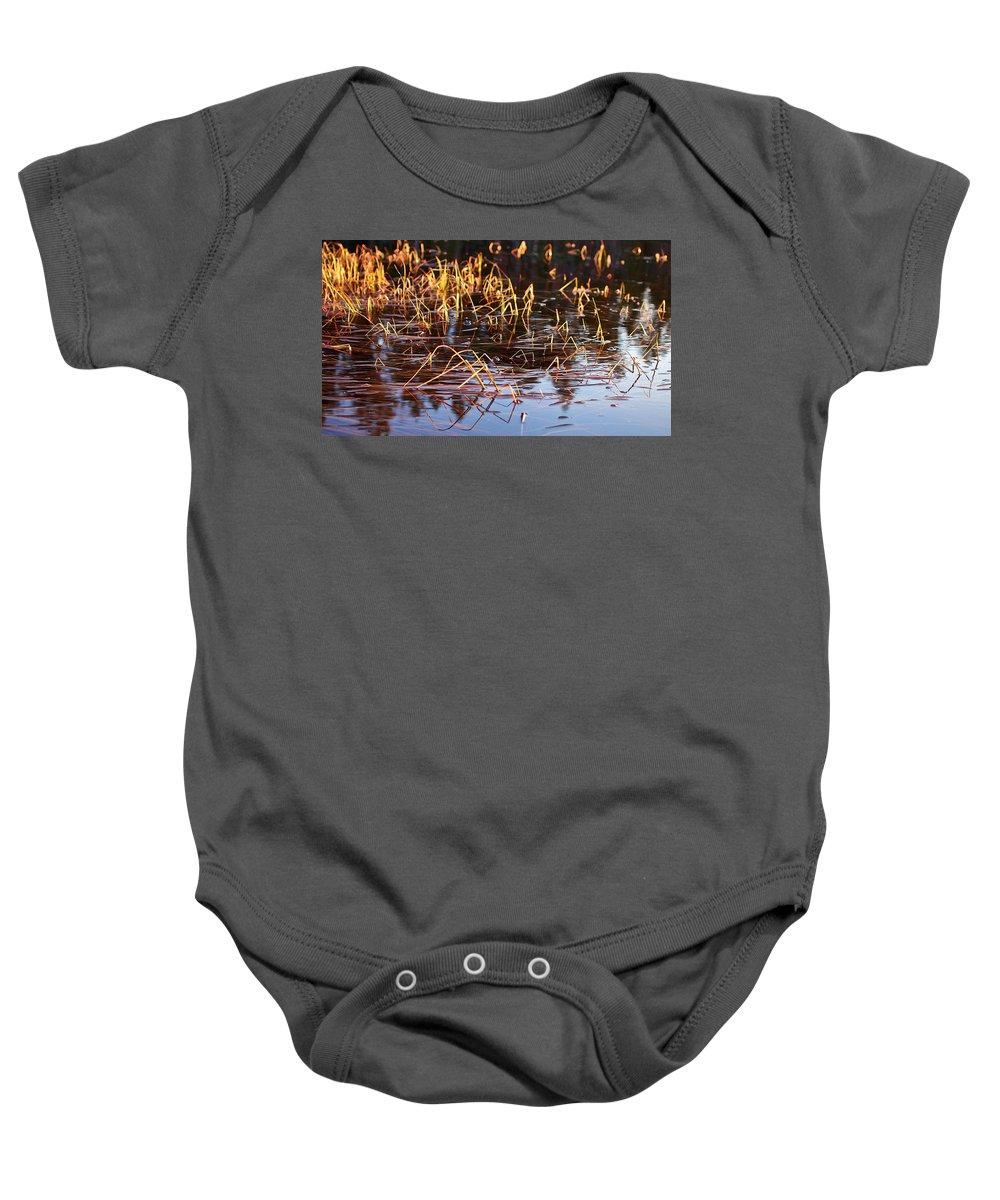 Lehto Baby Onesie featuring the photograph Froggy Sunset by Jouko Lehto